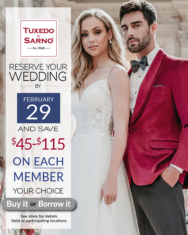 Save $45 on Suits or Tuxedos